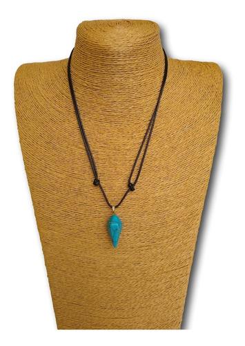 colar de pedra natural turquesa  ref: 9212