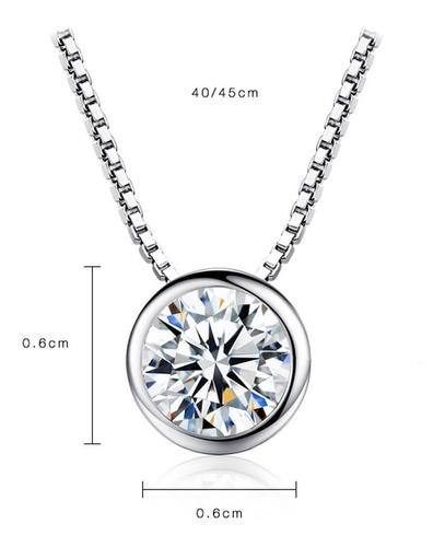 colar de prata 925 ponto de luz  gargantilha correntinha