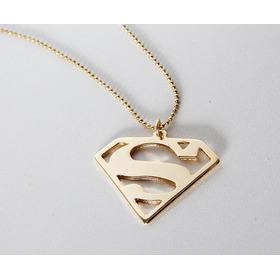 Colar Do Superman Dourado