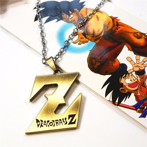 colar dragon ball - z dourado anime *