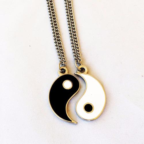 colar duplo da amizade yin yang - best friends namorados