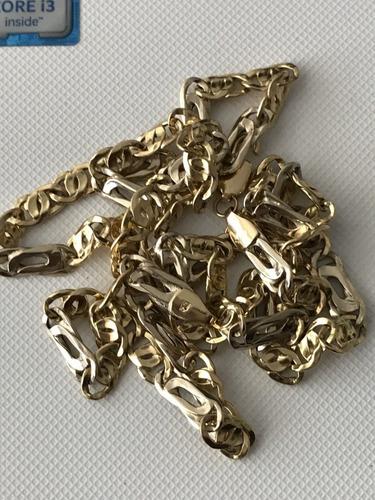 colar em ouro 18k amarelo e branco, tamanho: 62,5cm,: 14,5g