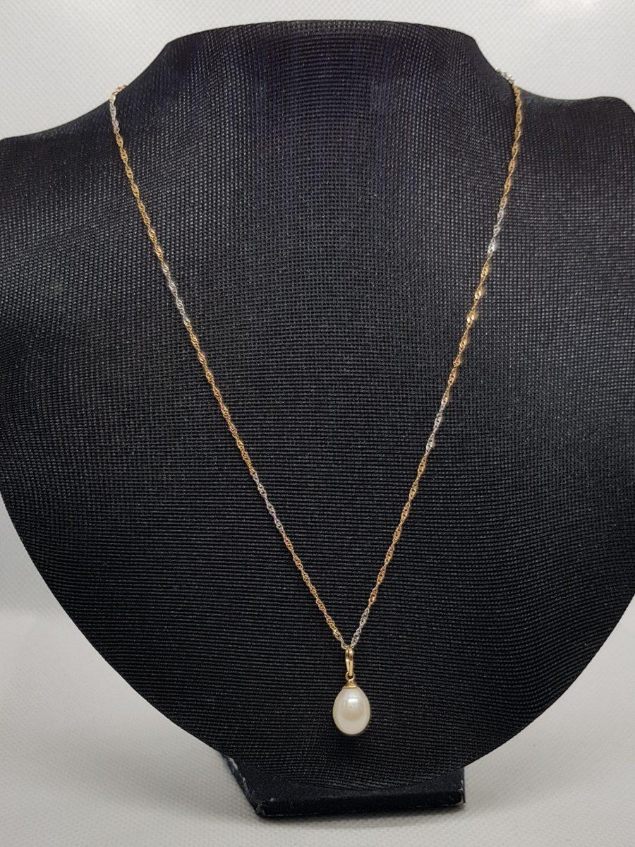 d794ce0298b59 colar em ouro 18k com pingente pérola. Carregando zoom.