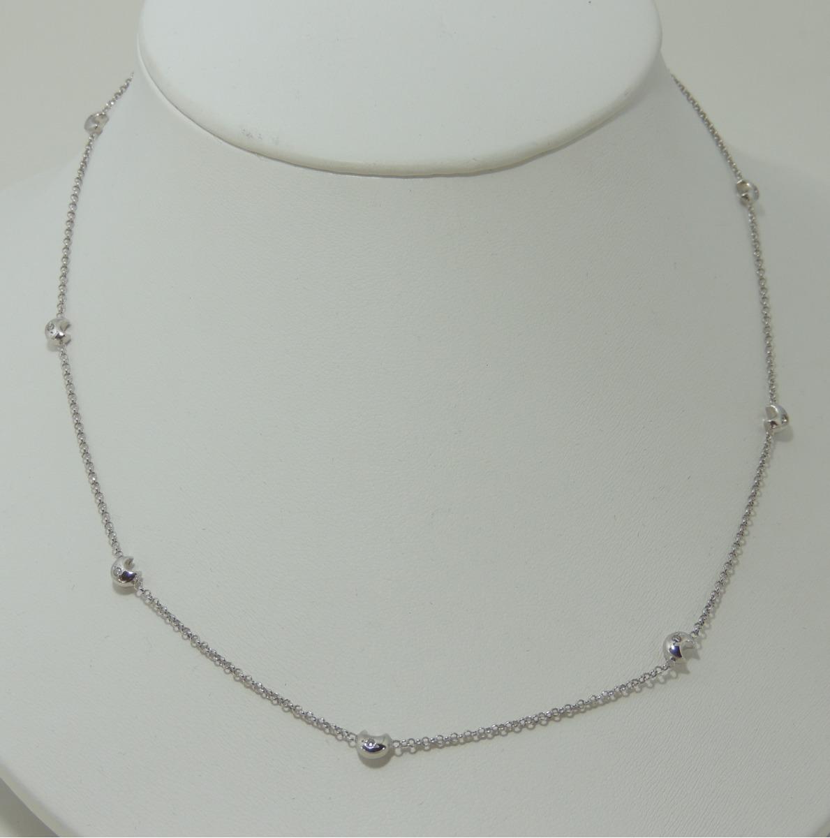 Colar Em Ouro Branco Com Luas E Diamantes Promoção - R  1.350,00 em ... 672cd13929