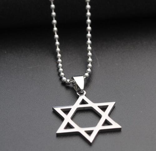 colar estrela de david judaica hexagrama cordão frete grátis