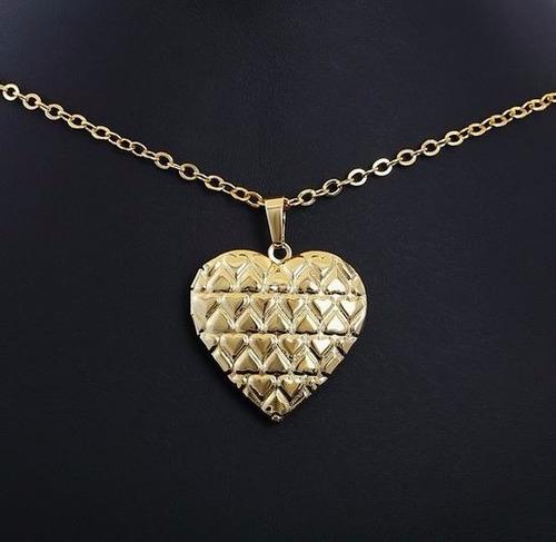 colar feminino banhado a ouro