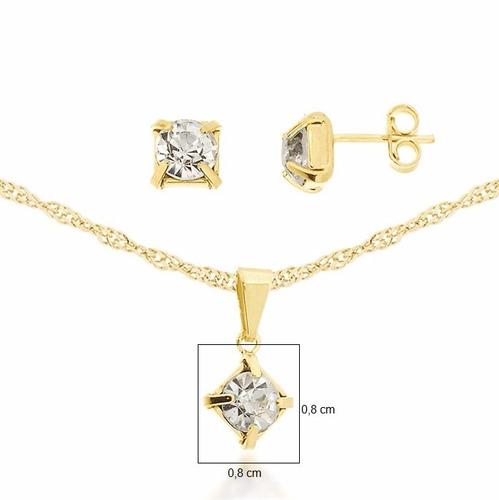 colar feminino banhado ouro