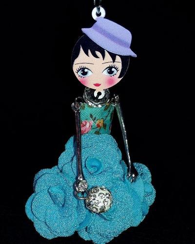 colar feminino boneca bonito delicado instagram bijuteria
