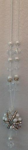 colar feminino de cristal - c.581