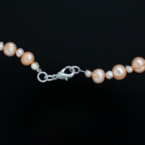 colar feminino de pérolas naturais cultivadas em 3 camadas