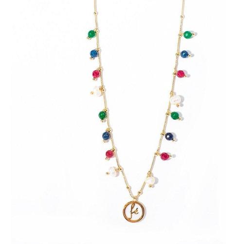 colar feminino fé pérolas semijoia pedras semi preciosas