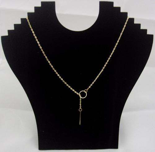 colar feminino fio elegant