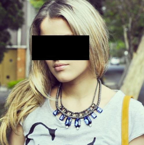 colar feminino gargantilha azul acessórios mulher moderna