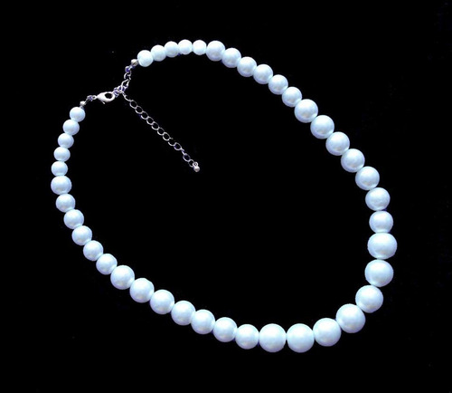 colar feminino pérola bijuteria colares