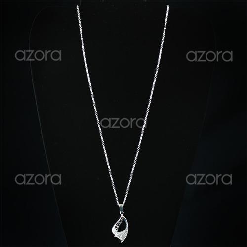colar feminino prata