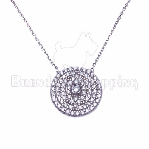 colar feminino prata turca 925 com banho de rodio