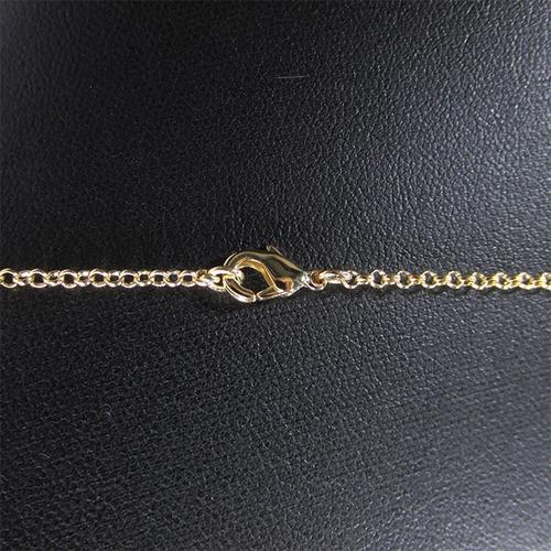 colar feminino semijoia longo ponto luz banhado