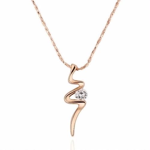 colar feminino zircônia de 4mm banhado em ouro 18k