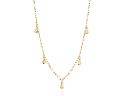 colar fio elo laminado ouro rommanel 531596