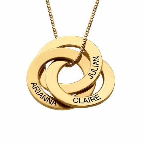 colar folheado a ouro feminino com nomes personalizados