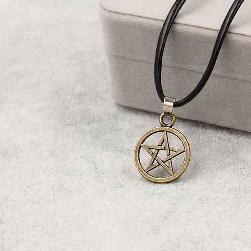 colar gargantilha  pentagrama supernatural frete barato