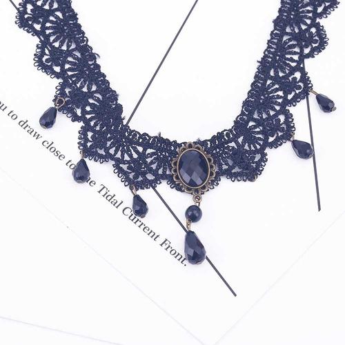 colar gargantilha preto velvet choker necklace com pingente