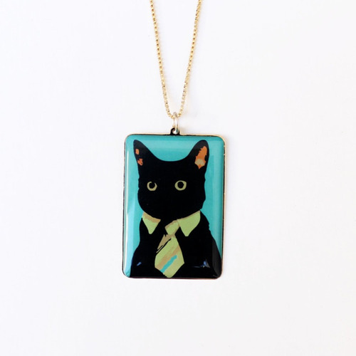 colar gato de gravata