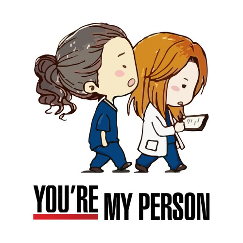 colar greys anatomy you are my person duplo casal amizade 2p