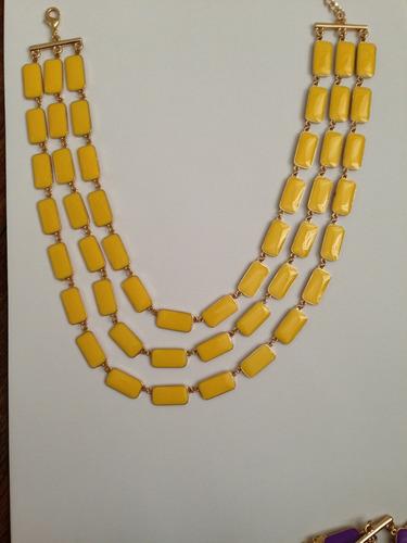 colar kate spade turquesa azul amarelo roxo preto branco