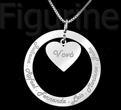 318f1e1726ae7 Colar Mamãe Com Nome Personalizado Em Prata 925 - R  119
