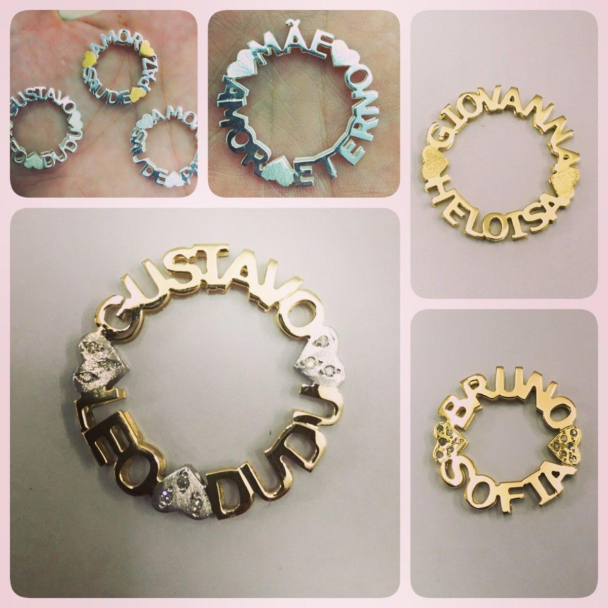 350896768799b colar mandala com 4 nomes - prata 925   banho ouro 18k. Carregando zoom.