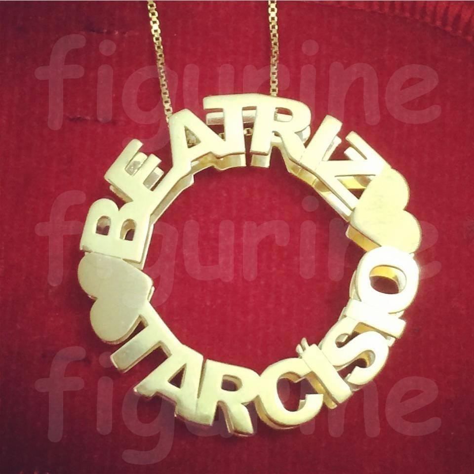 colar mandala com nomes personalizados - banhado a ouro 18. Carregando zoom. be0763f5de