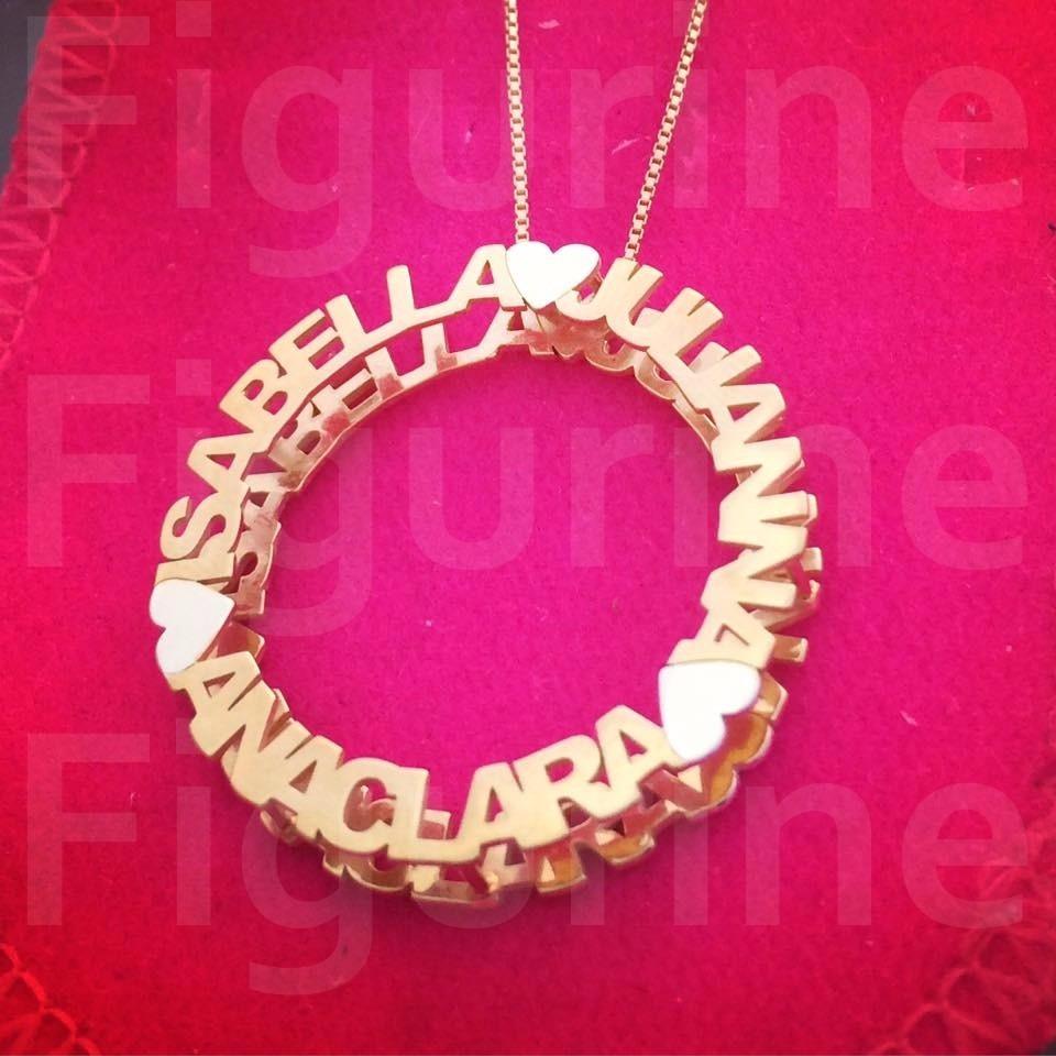 colar mandala com nomes personalizados - banhado a ouro. Carregando zoom. 713ae47b43