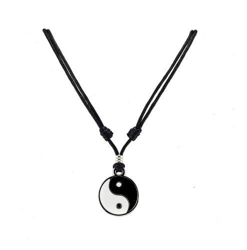 colar mandala yin yang força e equilibrio