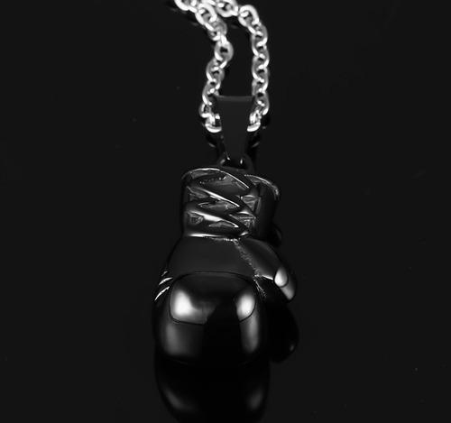 colar masculino cordão + pingente luva preta ufc mma boxe