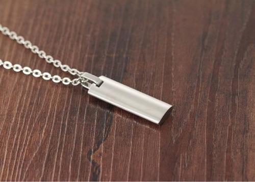 colar masculino corrente + pingente prata oração pai nosso