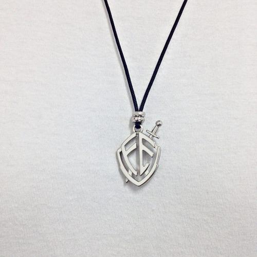colar masculino feminino moda evangelico escudo fé