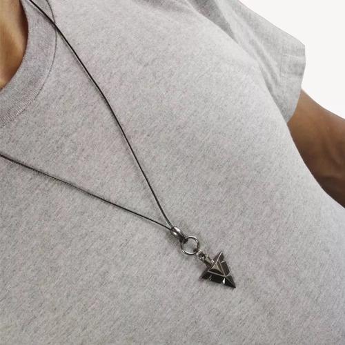 colar masculino pingente ponta flecha tribal regulável
