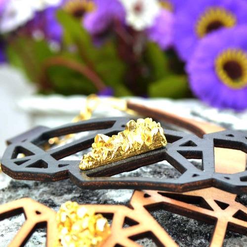 colar mina - dourado