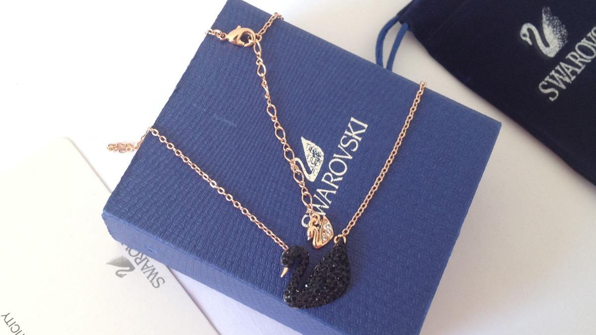colar modelo tiffany - swarovski cisne negro com embalagens. Carregando  zoom. 287f46ea14