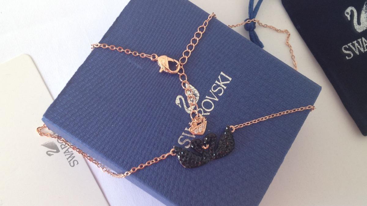 colar modelo tiffany swarovski cisne negro com embalagens. Carregando zoom. f6ff64df6e