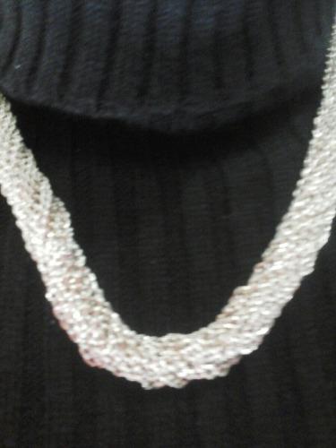 colar multicorrentes prata