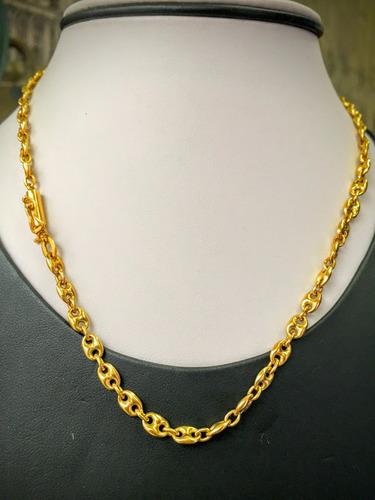 colar ouro 18k (750)-13.00gr.41cm.lindíssimo e elegante.