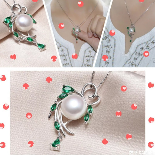 colar pérola jóias