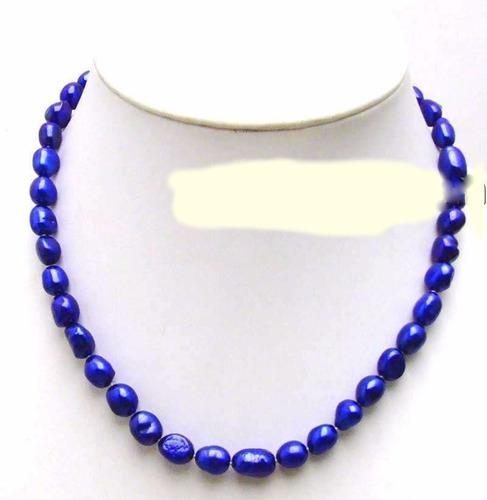 colar perolas azul cultivada 9.10 mm