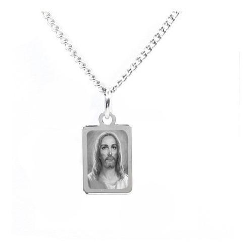 colar pingente aço foto gravada filhos, santos, jesus sa21