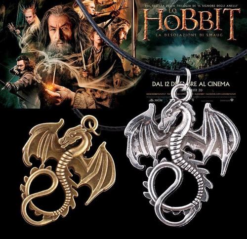 colar pingente amuleto dragão do filme hobbit frete grátis