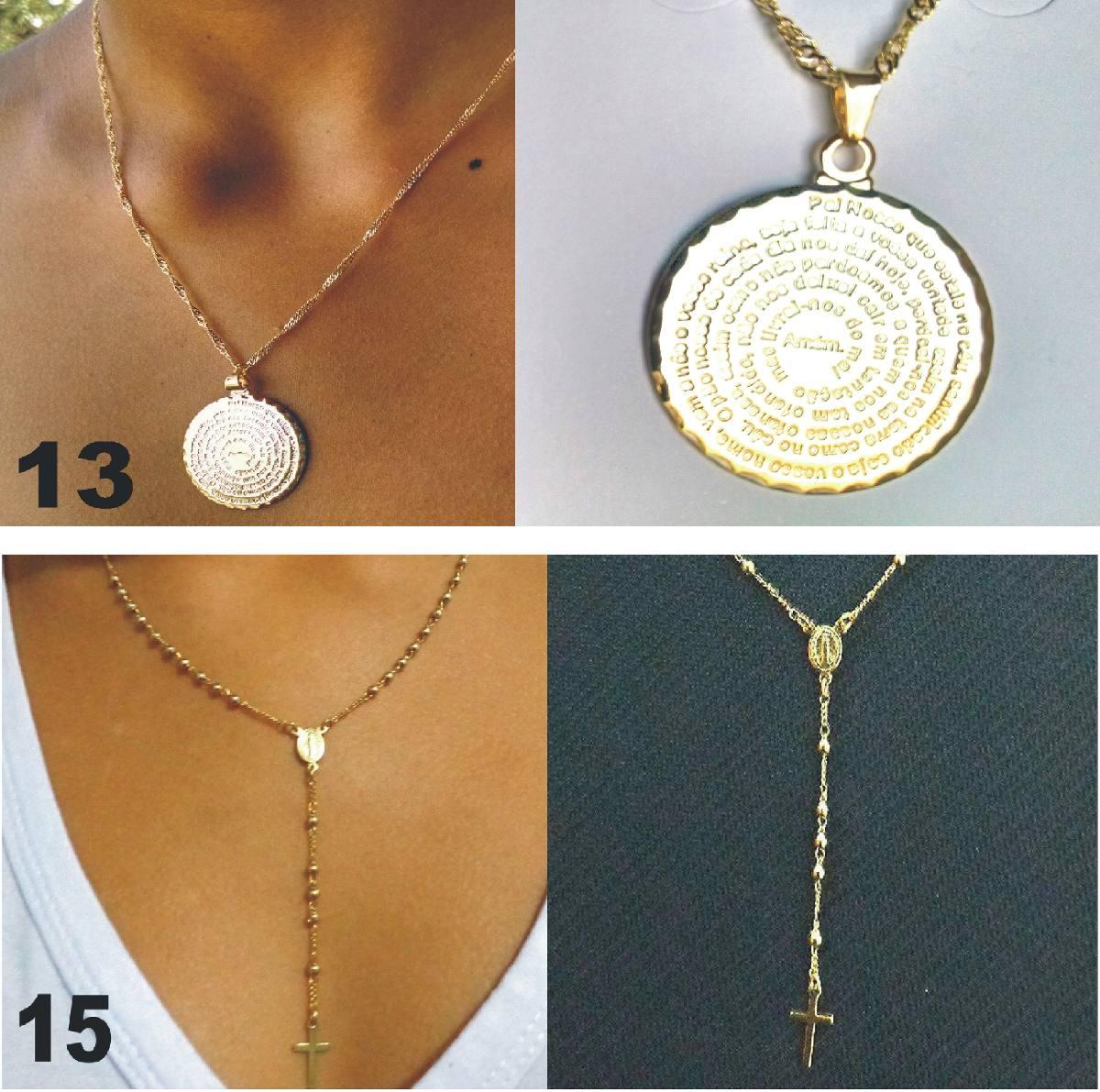 abd432fe71384 colar pingente da nossa senhora aparecida folheado a ouro18k. Carregando  zoom.
