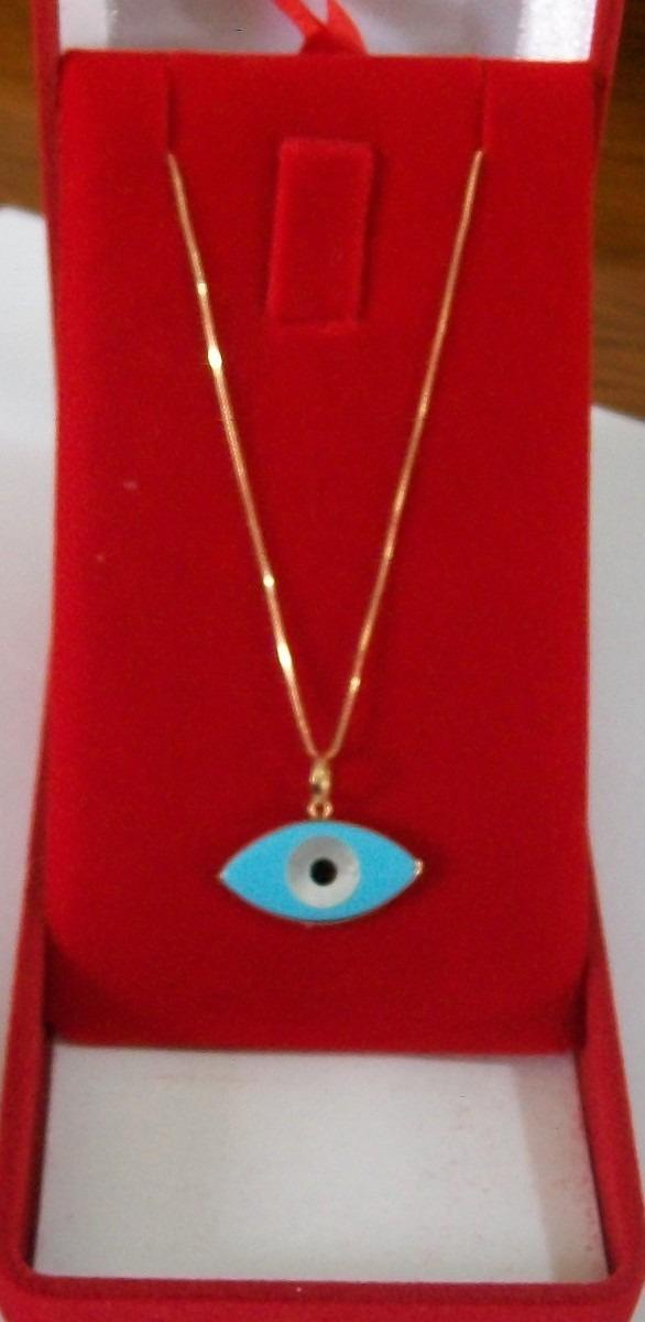 f14fed4c28014 colar + pingente de olho grego turquesa madreperola ouro18k. Carregando  zoom.