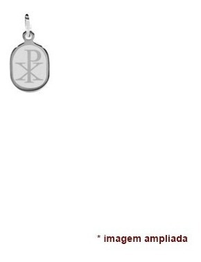 colar pingente e corrente de prata 925 chi rho